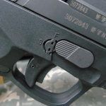 Steyr L40-A1 pistol disassembly lever