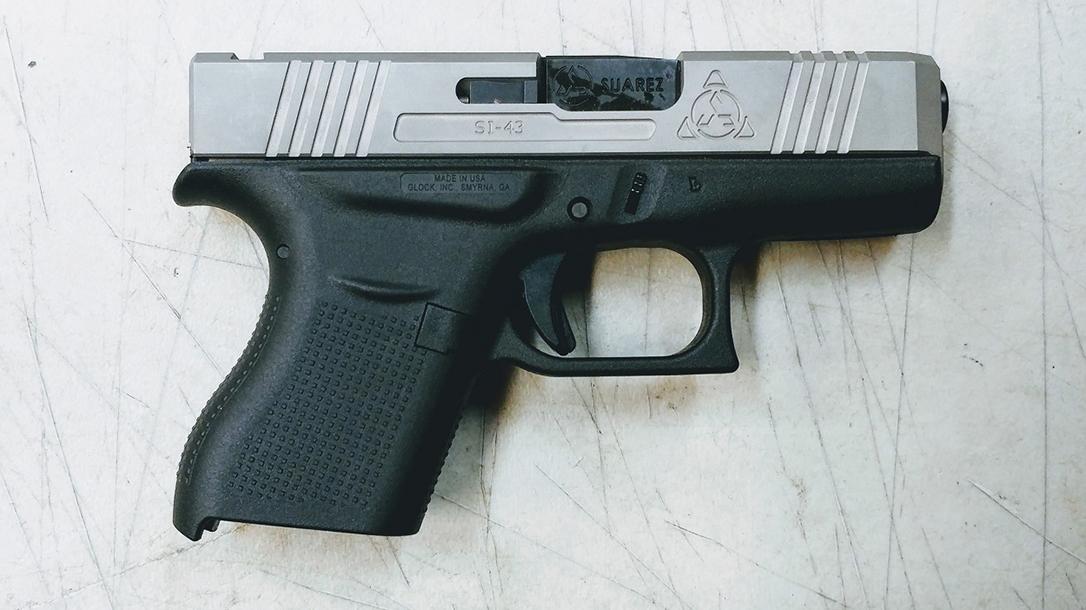 Suarez Supermatch SI-43 glock 43 slide attached right profile
