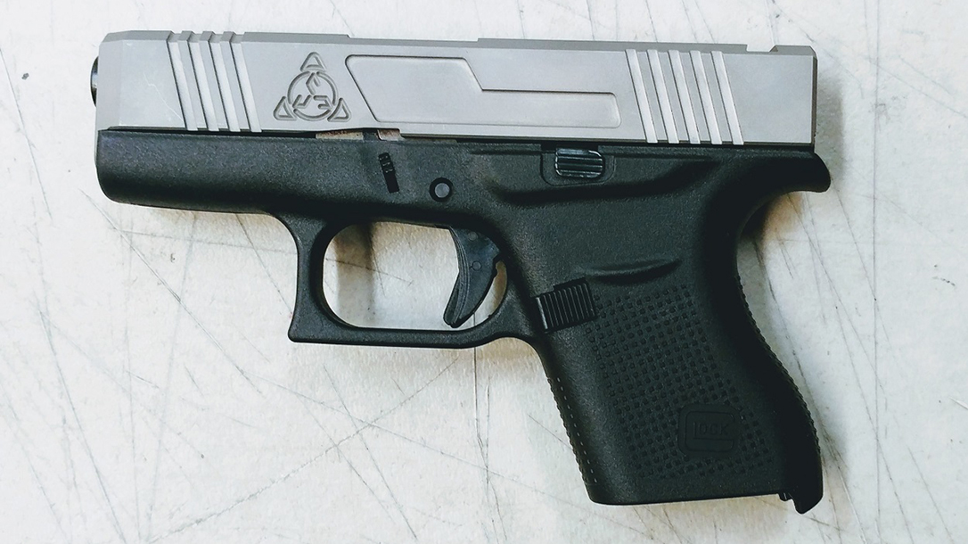 Suarez Supermatch SI-43 glock 43 slide attached left profile