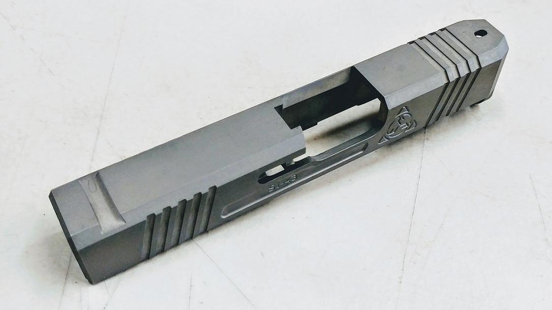 Suarez Supermatch SI-43 glock 43 slide left angle