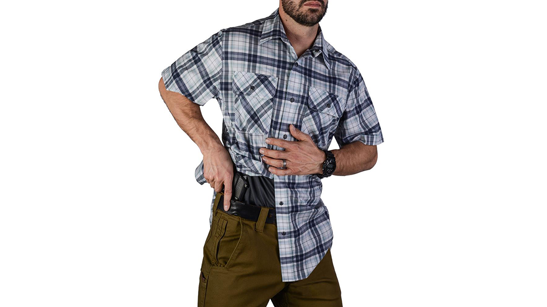 vert Guardian shirt indigo plaid