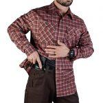 vert Guardian shirt brick plaid