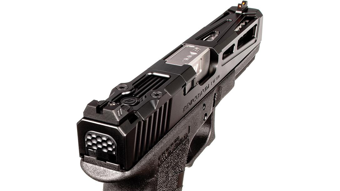zev Enhanced Prize Fighter pistol slide rear angle