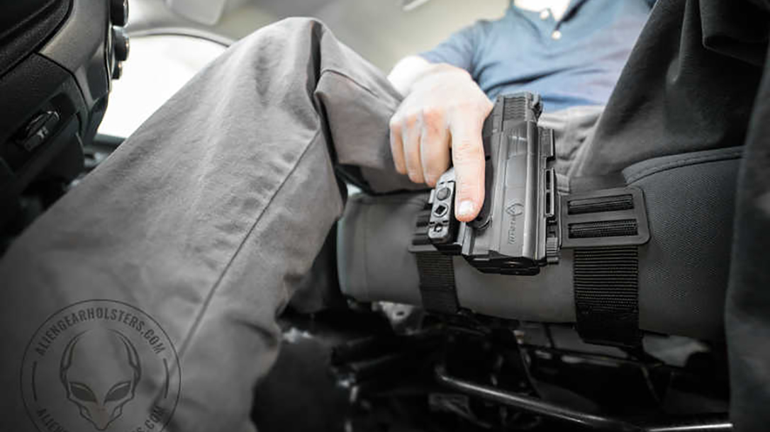 Alien Gear ShapeShift Driver Defense Holster car seat knees