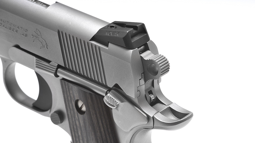 Colt Wiley Clapp Stainless Commander 1911 pistol thumb safety