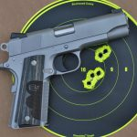 Colt Wiley Clapp Stainless Commander 1911 pistol target
