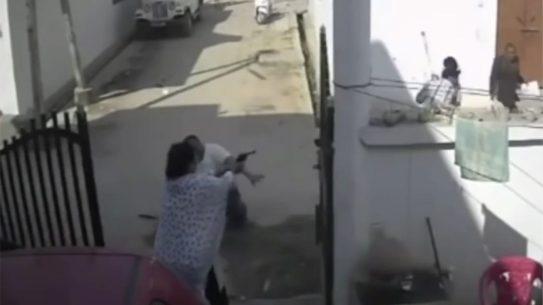 india 6-shot revolver shooting