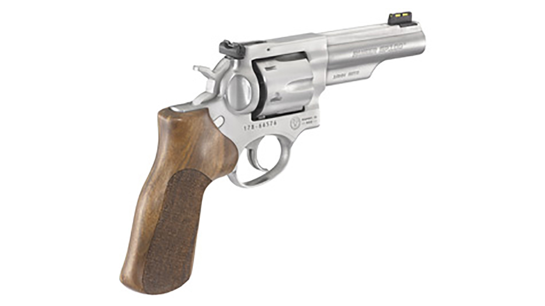 ruger gp100 match champion revolver rear angle