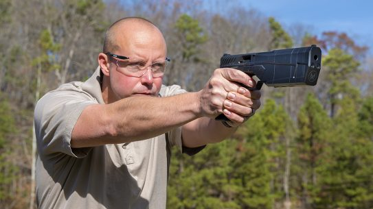 SilencerCo Maxim 9 pistol shooting