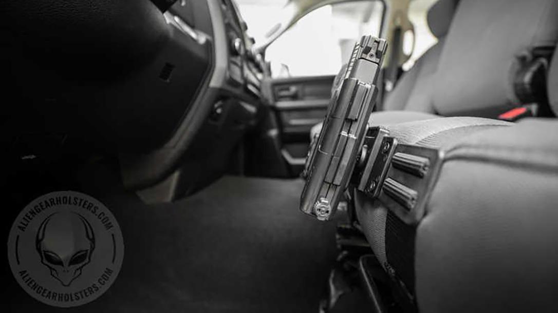 Alien Gear ShapeShift Driver Defense Holster steering wheel