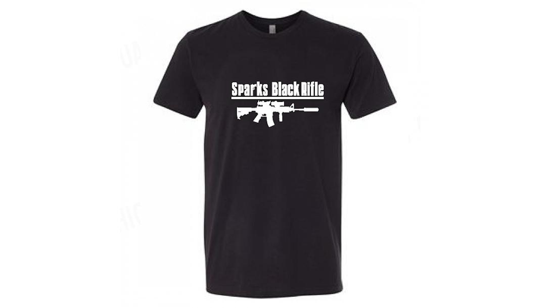 pro gun clothing sparks black rifle
