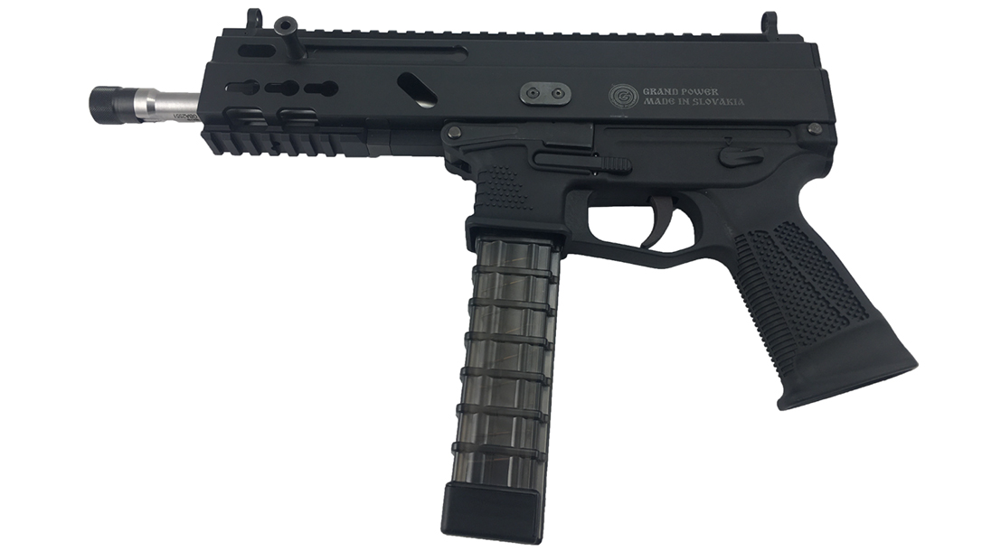 Grand Power Stribog pistol carbine left profile