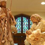 guns in church statues