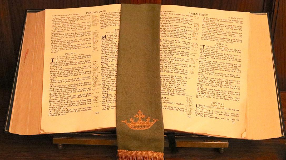 guns in church bible open