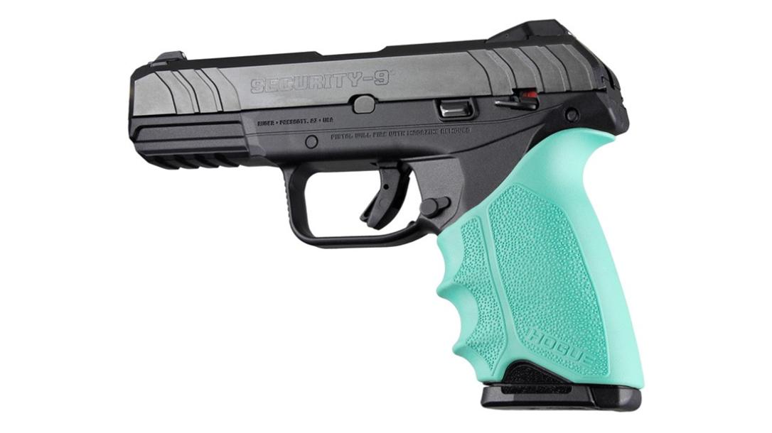 hogue handall beavertail grip sleeve ruger security 9 aqua