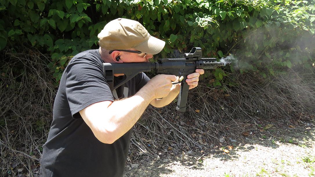 Quarter Circle 10 QC10 GLF ar pistol shooting