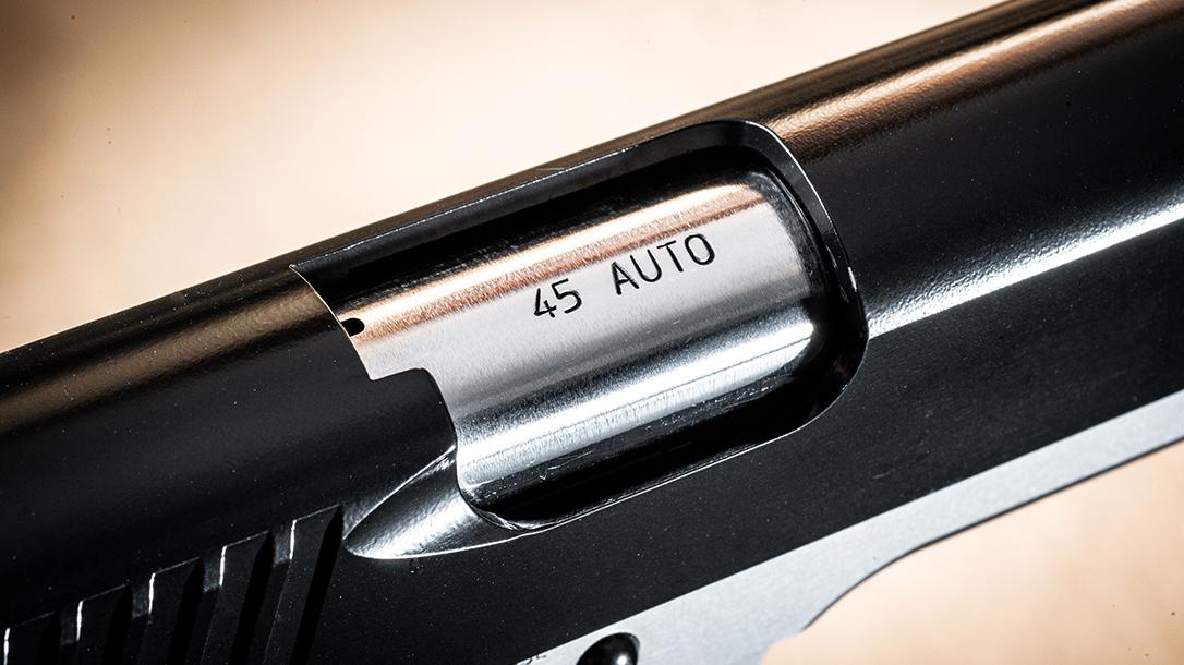 Roberts Defense SuperGrade 2-Tone pistol ejection port