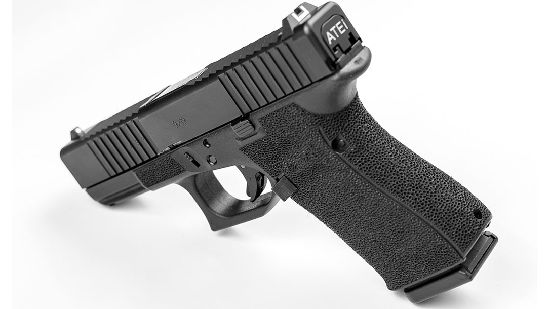 ATEi A9 Glock 19 pistol rear angle