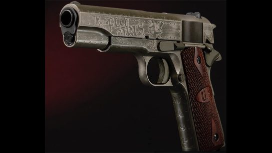auto-ordnance fly girls 1911 pistol left angle