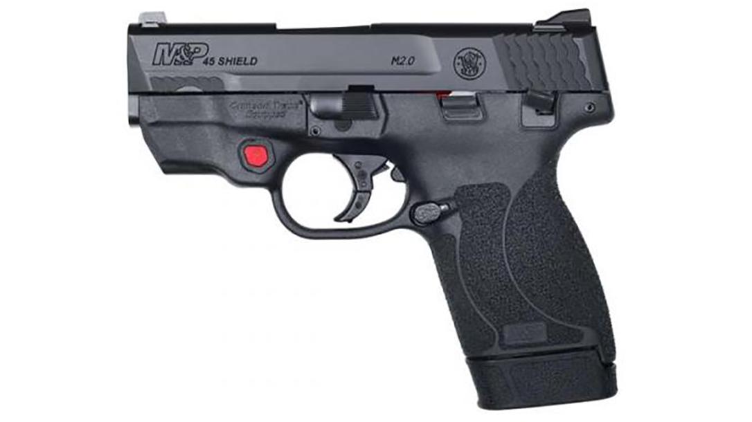 smith wesson M&P45 Shield M2.0 pistol red laser left profile