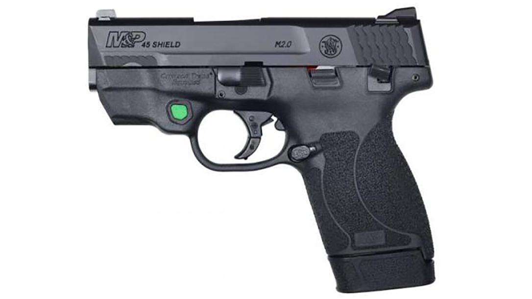 smith wesson M&P45 Shield M2.0 pistol green laser left profile