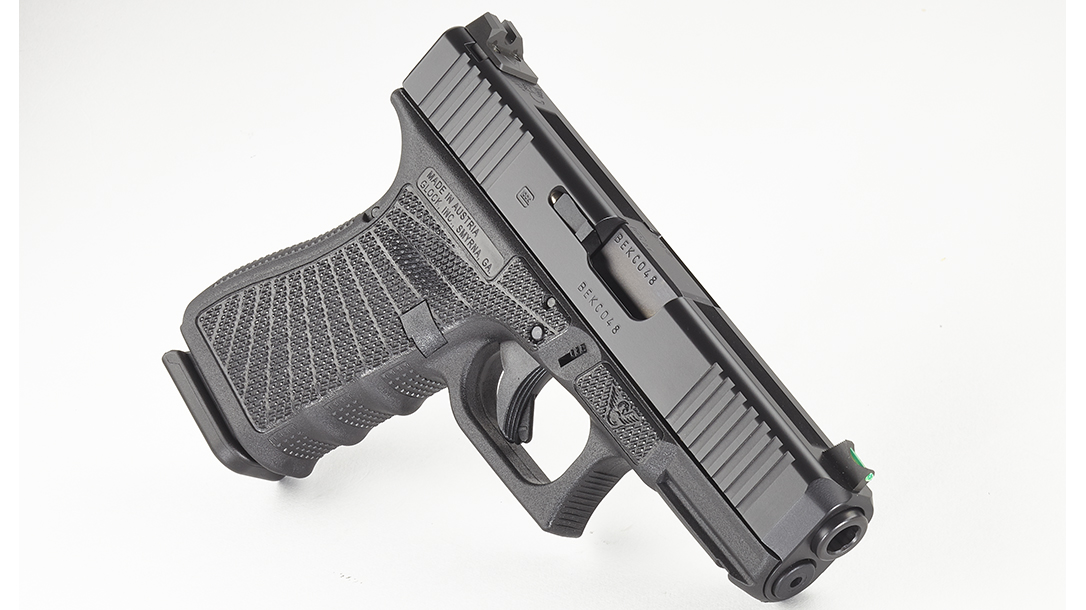 Wilson Combat Glock 19 Gen4 pistol right angle