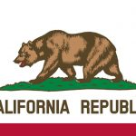 bullet button california flag