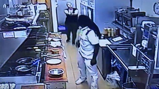 george webb kitchen attack