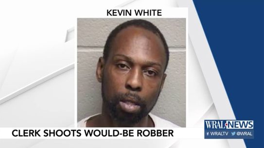 north carolina store clerk robbery kevin white