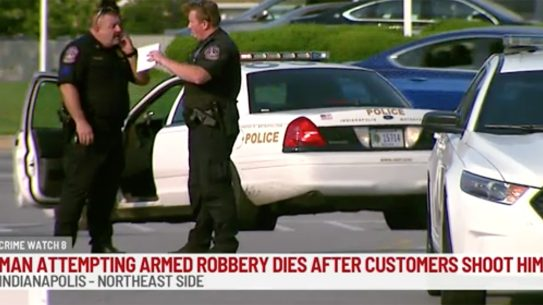 Armed Robber Killed, Indianapolis Gas Station, Concealed Carry