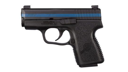 kahr thin blue line pm9 pistol left profile