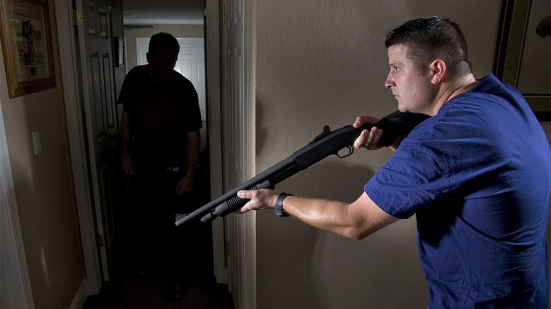 home invasion, home invader, michigan homeowner, birdshot shotgun