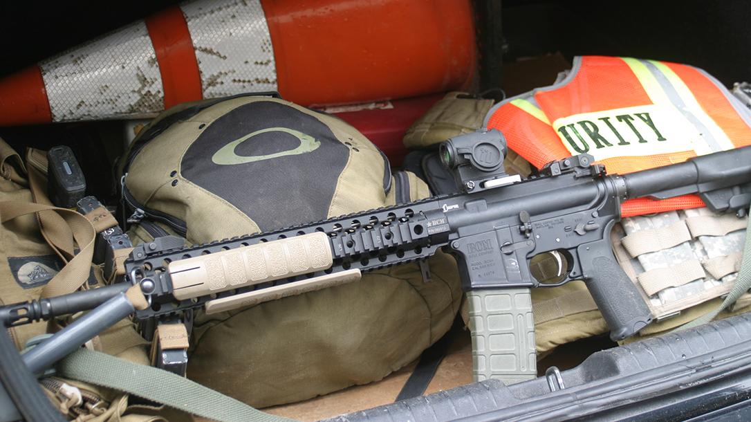 bug out bag, AR-15, rifle. security