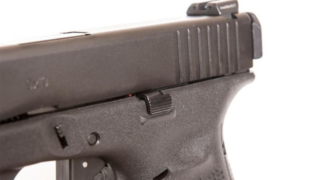 tangodown Vickers Tactical Glock Gen5 Slide Stop left angle