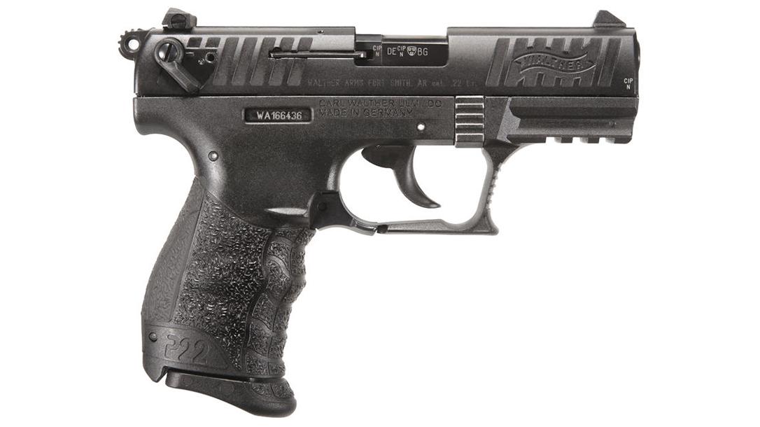 Walther P22 FDE semi-auto pistol right side