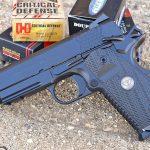 Wilson Combat X-TAC Elite Carry Comp 9mm pistol left profile