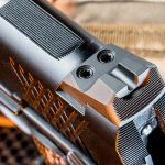 Wilson Combat X-TAC Elite Carry Comp 9mm pistol rear sight