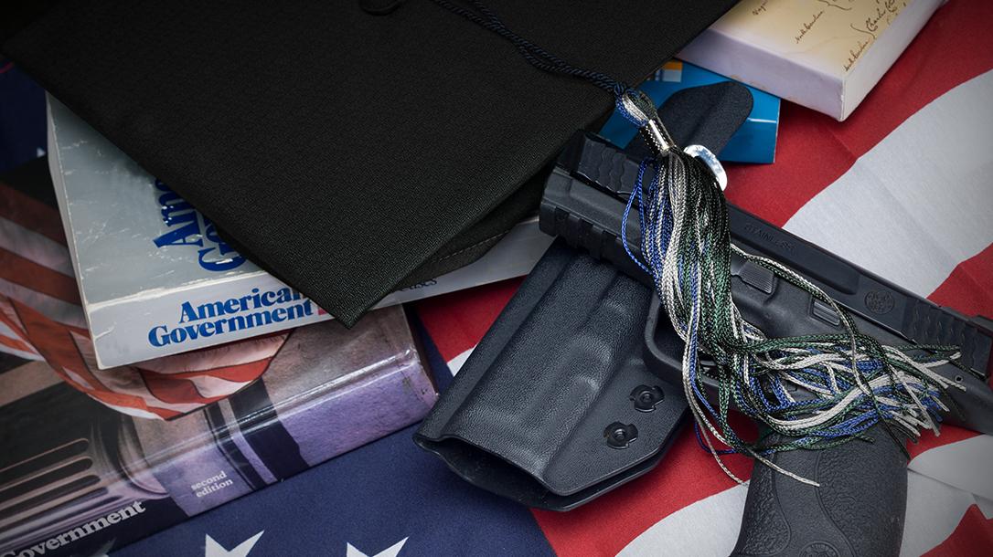 Georgia Campus Carry, handgun, pistol, cap and gown