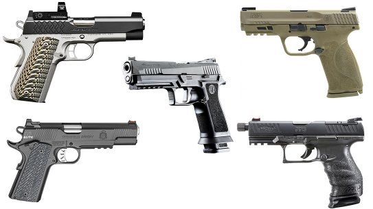 Full Size handguns 2018, full-sized handguns, full size pistols, new handguns