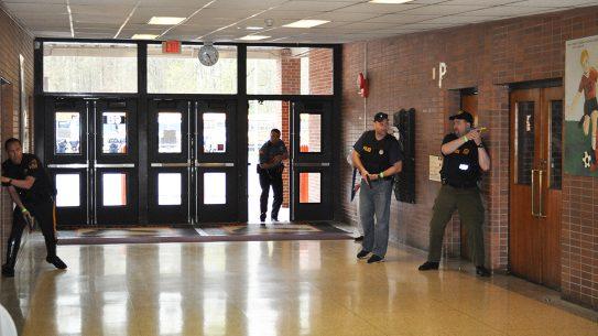 arming teachers, school shootings, hard targets