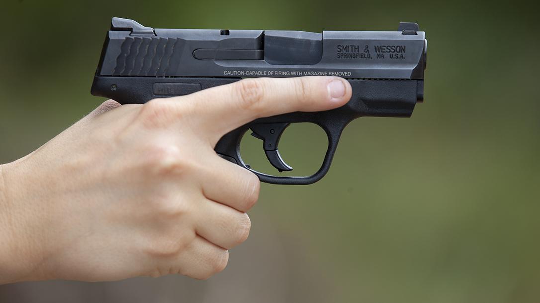 firearm safety, finger off