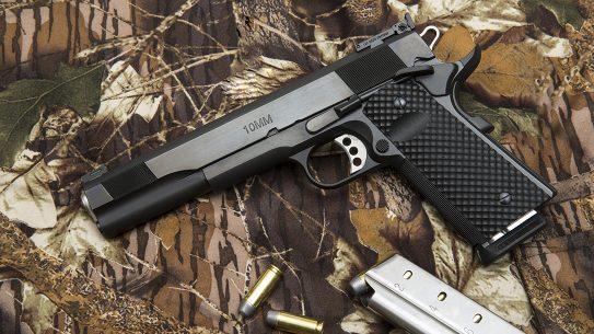 The Les Baer Premier II Hunter pistol, 10mm handgun, camo
