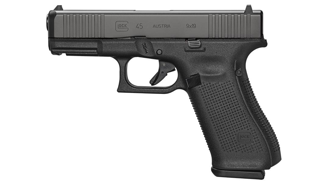 Glock 45 pistol, G45 pistol first review, left