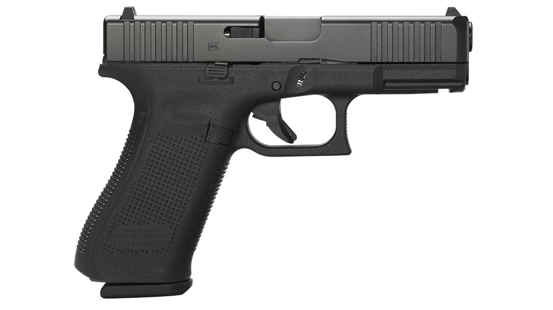 Glock 45 pistol, G45 pistol first review, right