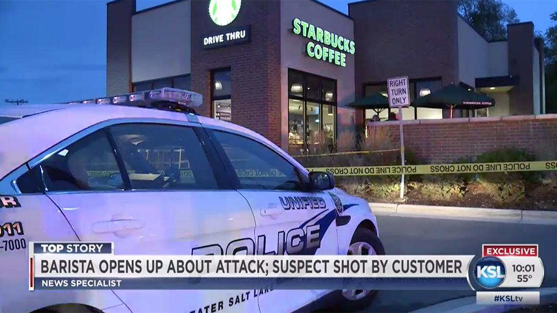 Starbucks Customer Shoots Attacker
