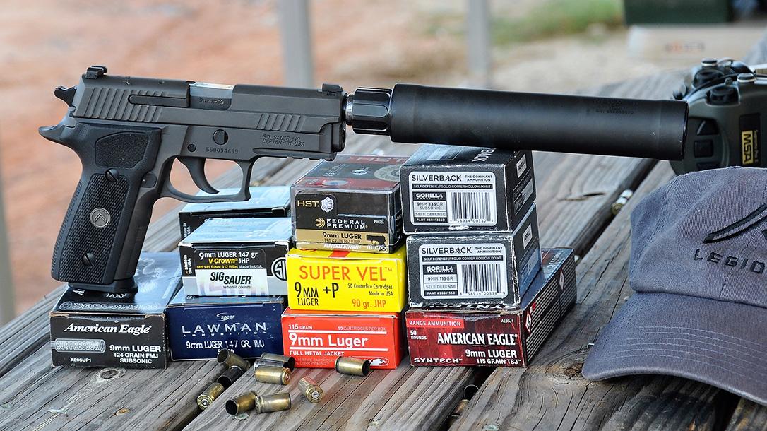 Sig Sauer P229 Legion, ammunition