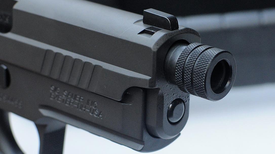 Sig Sauer P229 Legion, thread protector