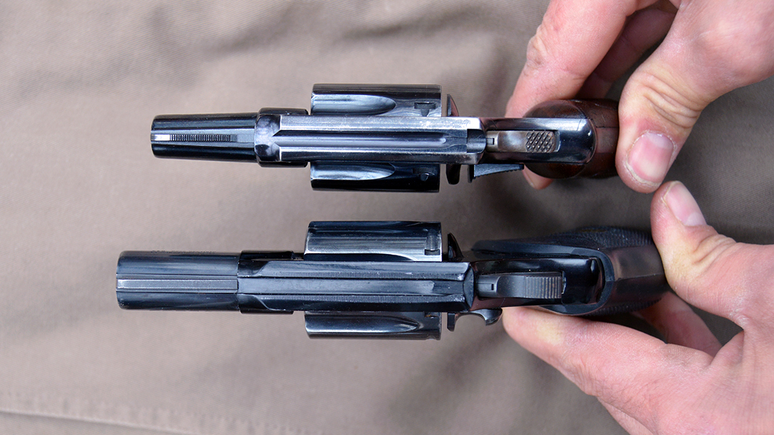 Snub Nose Revolvers, longer and heavier
