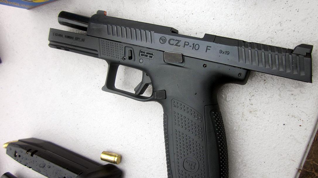 CZ P-10 Pistol, full size slide back