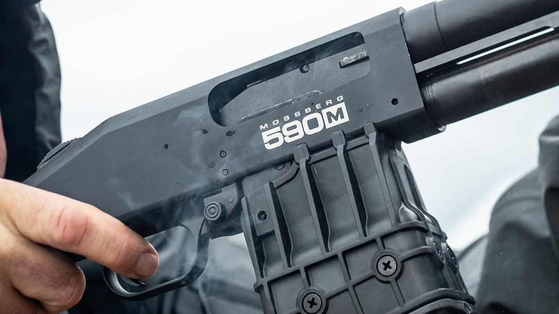 Mossberg 590M Shockwave Shotgun, Athlon Outdoors Rendezvous, logo